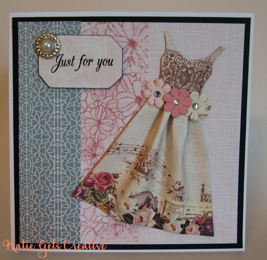 Floral Dress handmade card